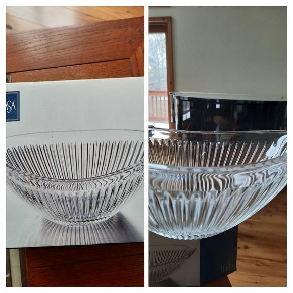 "Mikasa Diamond Fire oval bowl. 11.5"""
